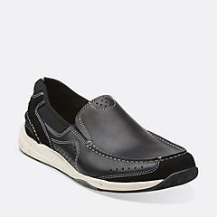 Allston Free Navy Nubuck - Mens Wide Width Shoes - Clarks