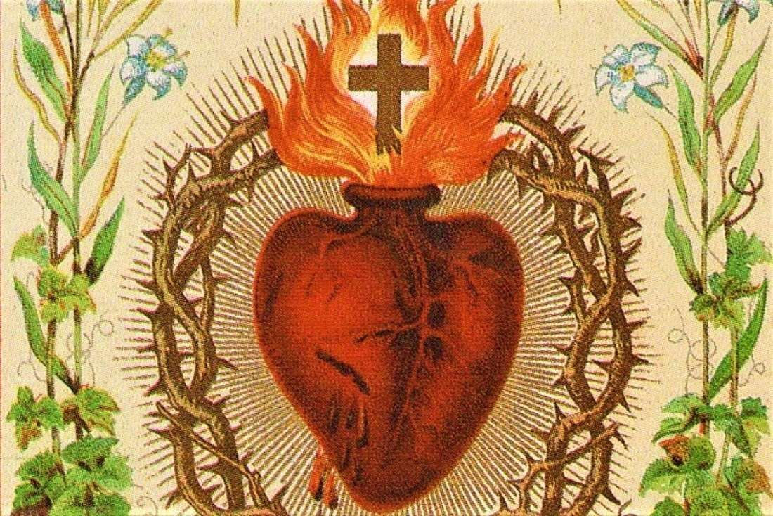 Carolyn Pirtle, ND Center for Liturgy Program Director, gives a musical introduction to the history of the Sacred Heart devotion.