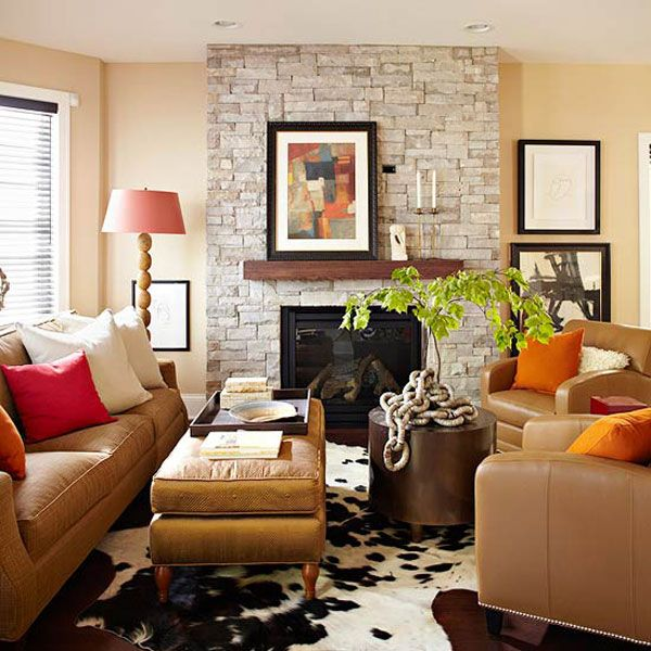 10+ Stunning Red And Orange Living Room