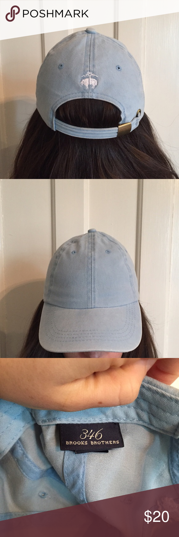 b7ff74dc06ba4 Brooks Brothers Baseball Cap Baby blue Brooks Brothers baseball cap. Super  adorable!!!! Only worn once from my smoke and pet free home!
