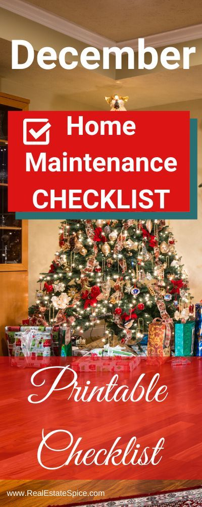 Photo of Dezember Checkliste für Wartung und Sicherheit zu Hause. Kennen Sie diese