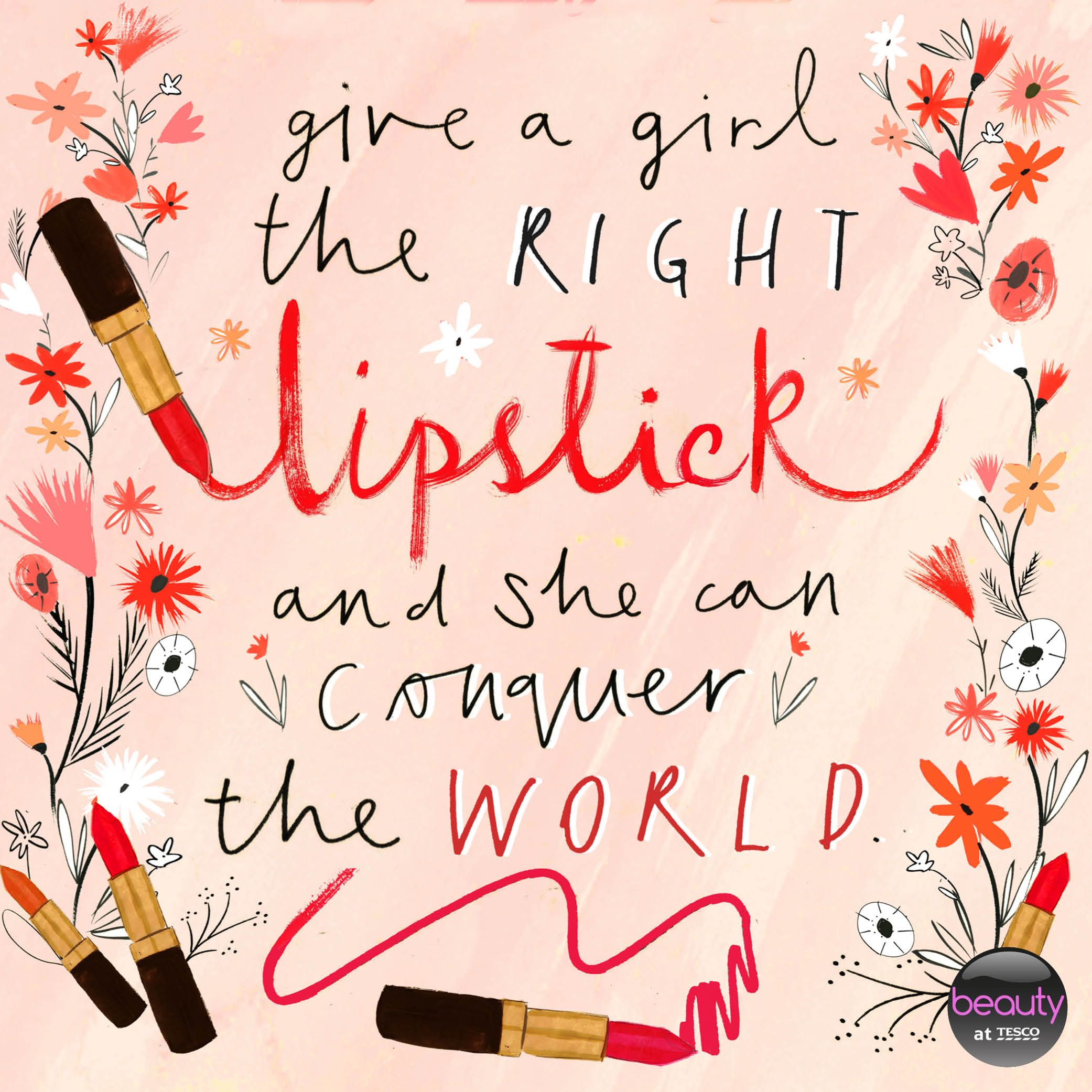 Maudjesstyling Give A Girl The Right Lipstick And She Can Conquer The World Beautyattesco Beautyquote Lipstick Quotes Makeup Quotes Lipsense