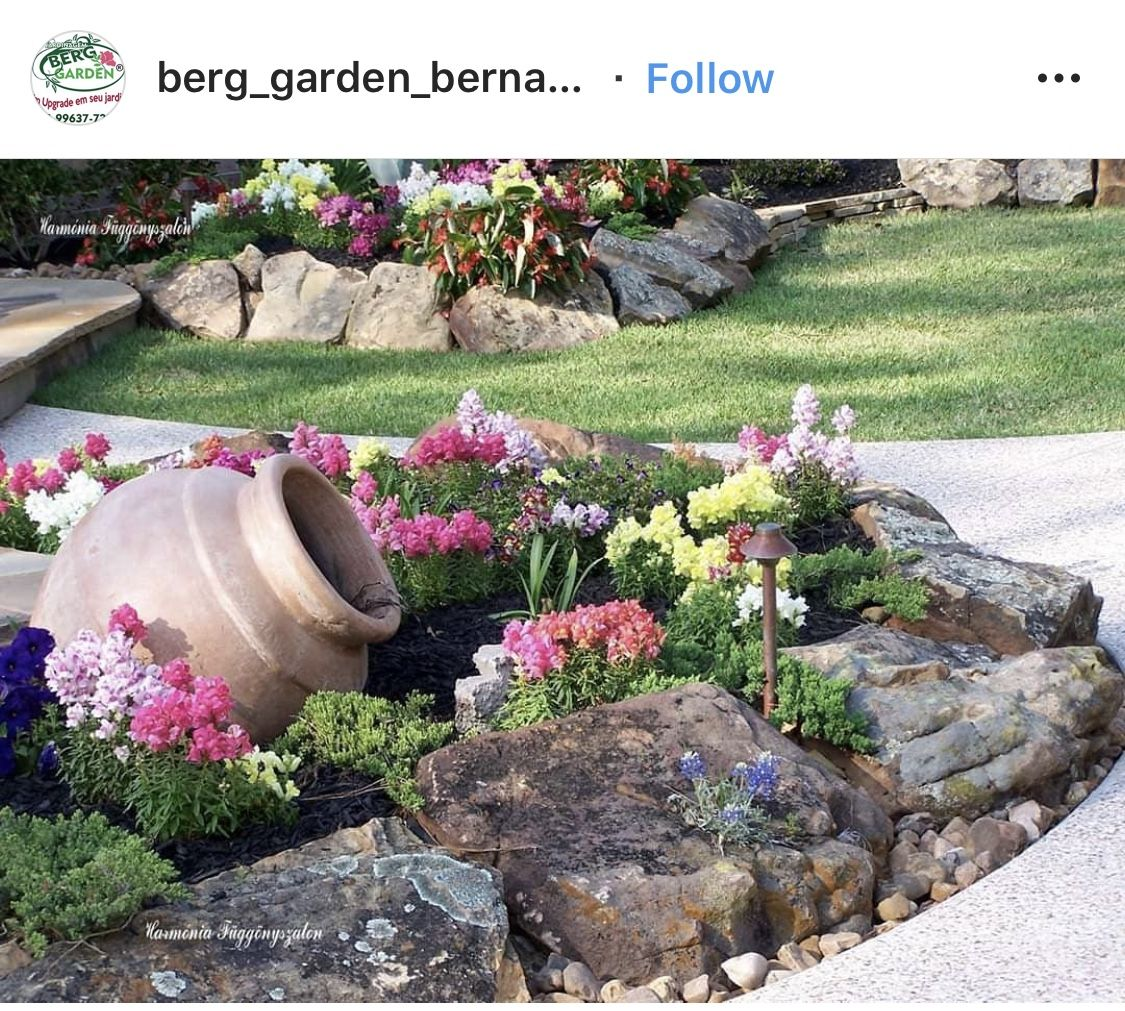 Pin By Amber Ligon On Go Outside In 2020 Rock Garden Small Garden Landscape Design Rock Garden Landscaping
