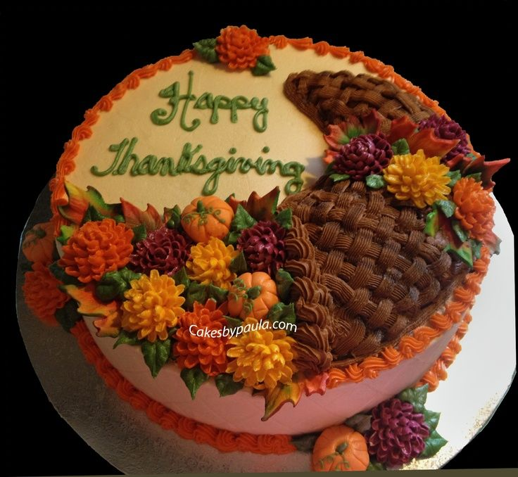 Thanksgiving Cakes Decorating   thanksgiving - iced in ...