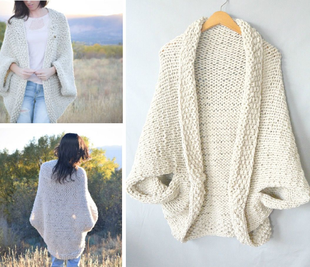 Cocoon Shrug Knitting Pattern Free Tutorial Super Easy | Shrug ...