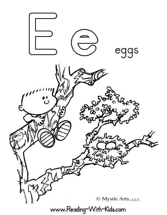 Letter E Worksheets for Toddlers | Alphabet Coloring Pages | letter ...