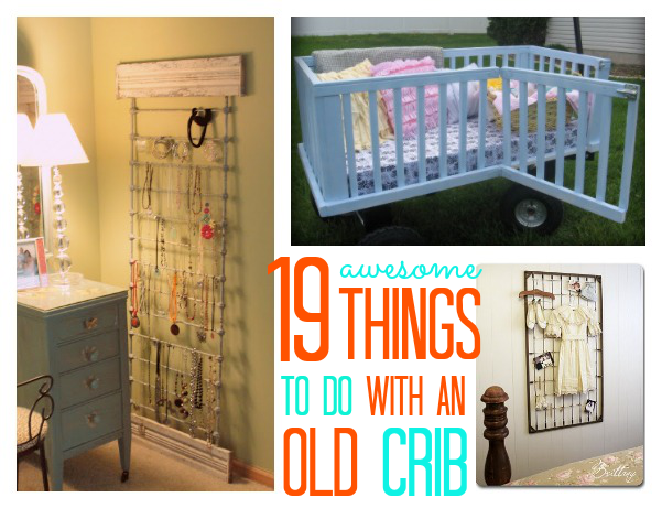 things to do with an old crib things to make old cribs and awesome. Black Bedroom Furniture Sets. Home Design Ideas