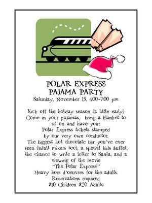"""Plan a """"Polar Express"""" PJ party! SOOOOO fun...scale it down to a smaller group if needed."""