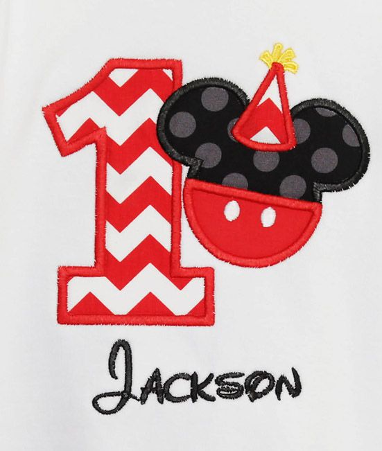 Infant Toddler Boys 1st First Birthday Mickey Mouse Personalized 1 Shirt Custom Any