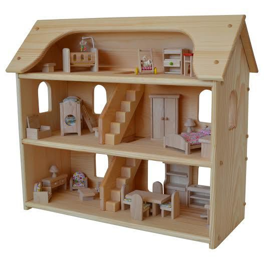 Wooden Dollhouse Made In Usa Toys Children