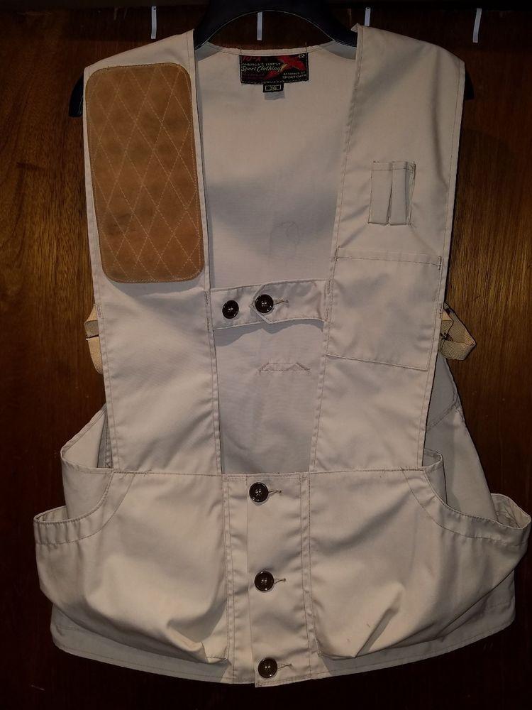 cd43dca6d137f Vintage 10-X Trap Skeet Hunting Shooting Vest Size 36 | Sporting ...