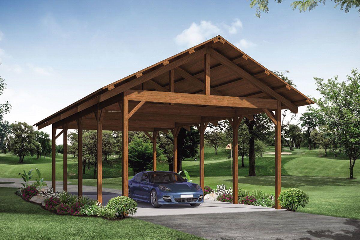 Plan 72955da Lodge Style Carport In 2021 Craftsman Style House Plans Carport Plans Building A Carport