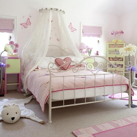 More beautiuful girls bedroom decorating ideas | Pink bedding ...