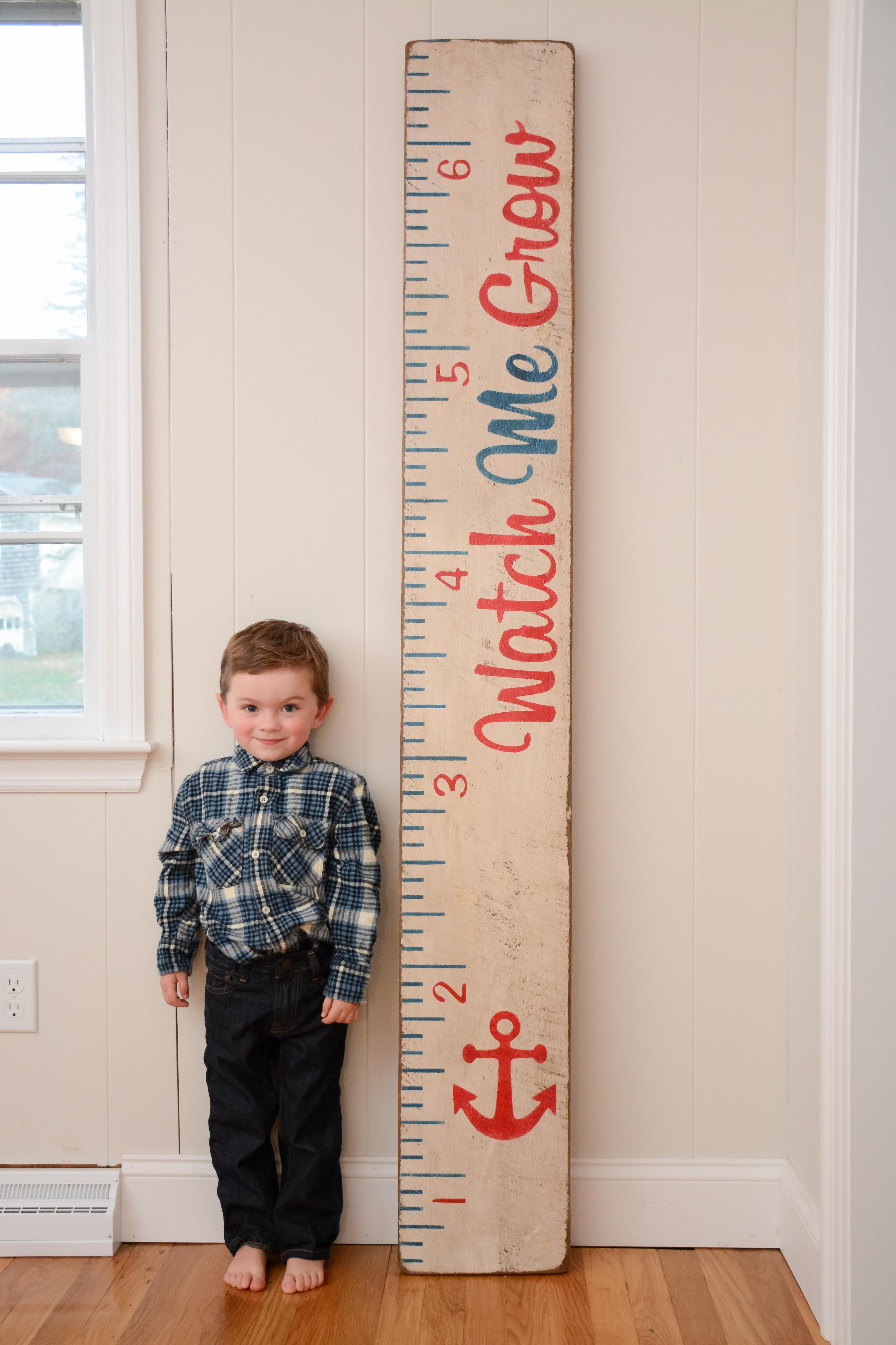 personalized siblings nursery growth chart elephants bedroom wall height ruler