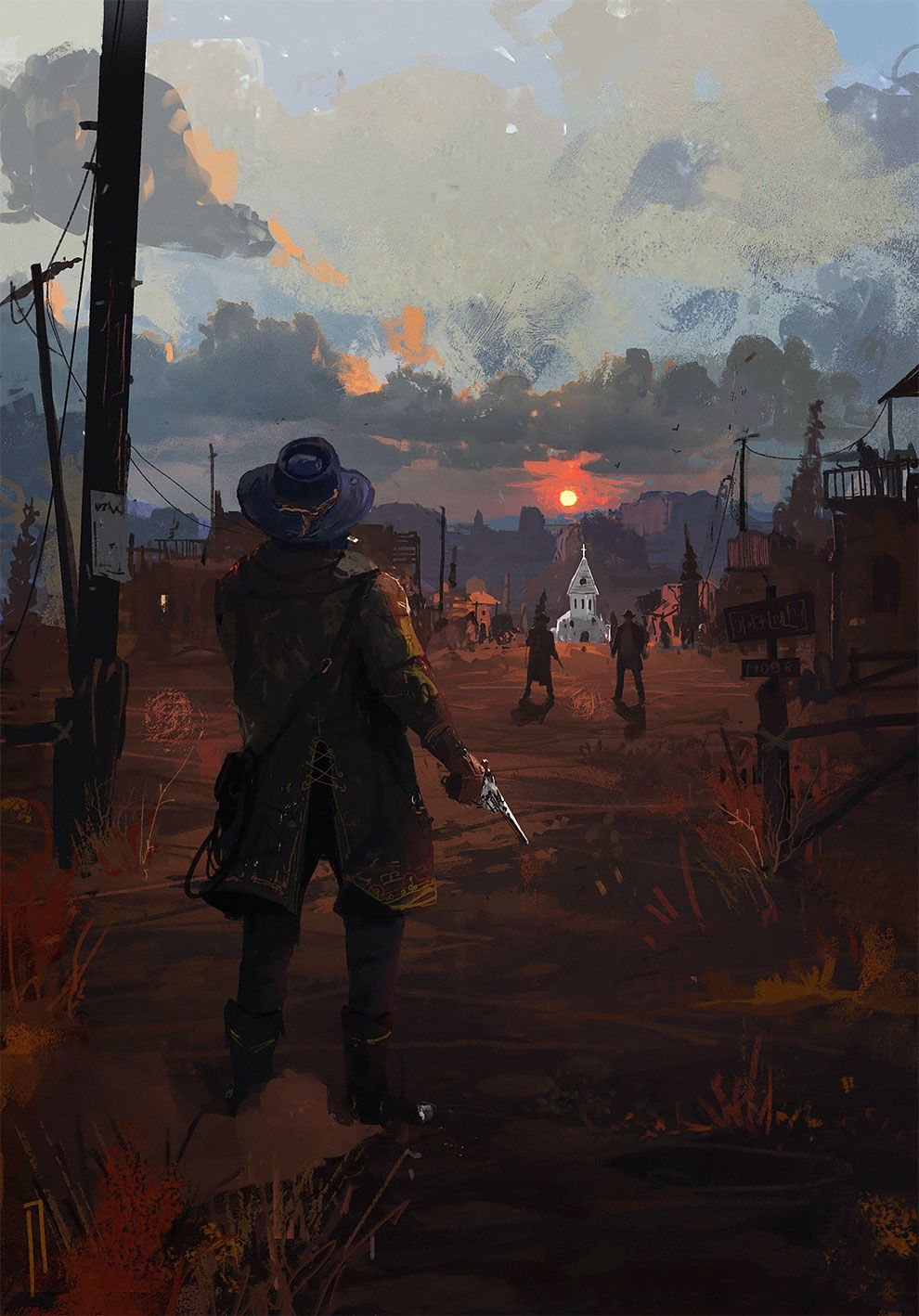 The Longest Journey The Superb Post Apocalyptic And Sci Fi Concept Art By Ismail Inceoglu Red Dead Redemption Artwork Red Dead Redemption Art Red Dead Redemption