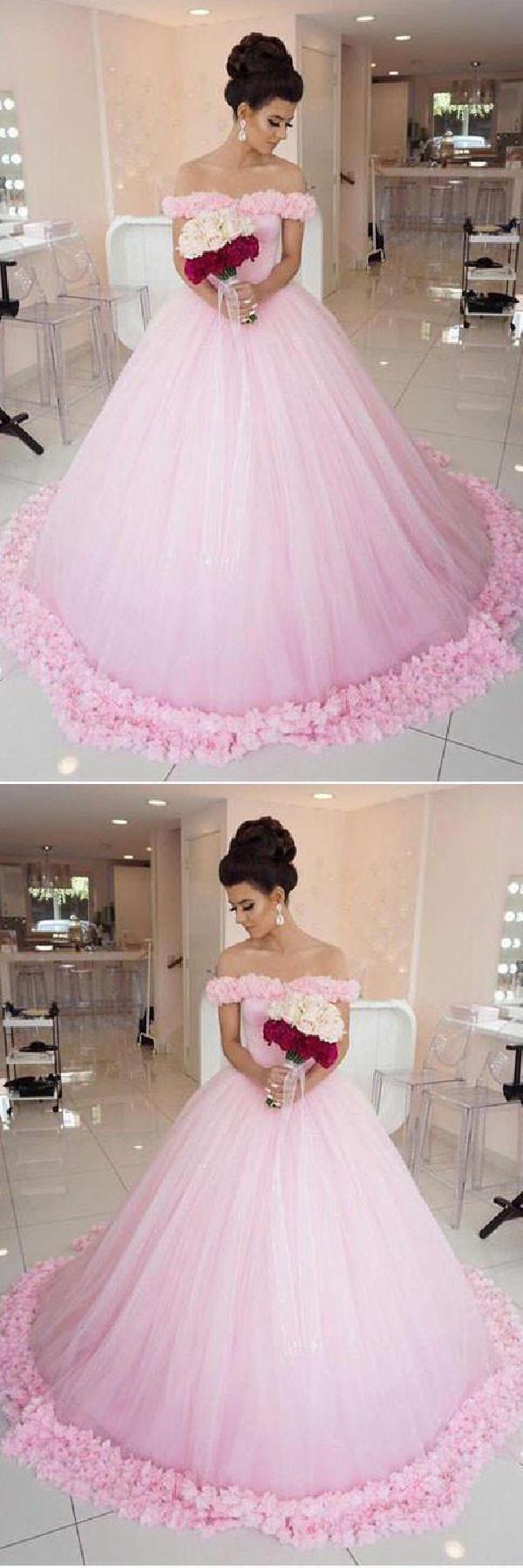 Prom dresses wedding dresses ball gown wedding dresses pink