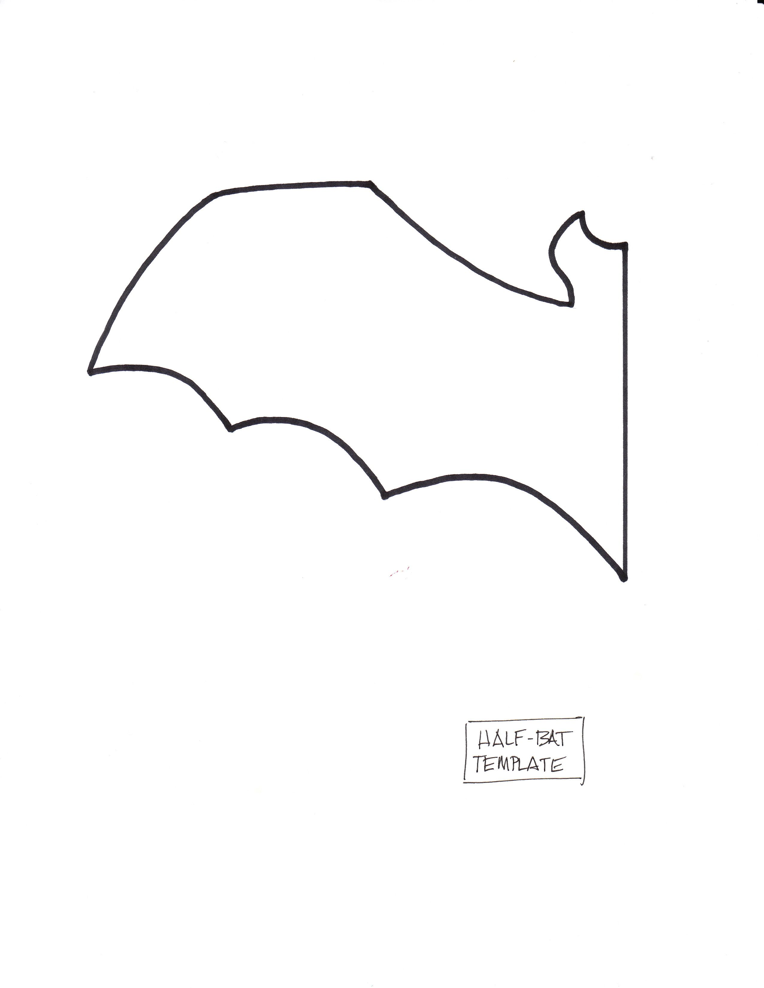 free printable bat templates printer and plain white paper scissors craft foam or construction - Halloween Decoration Templates