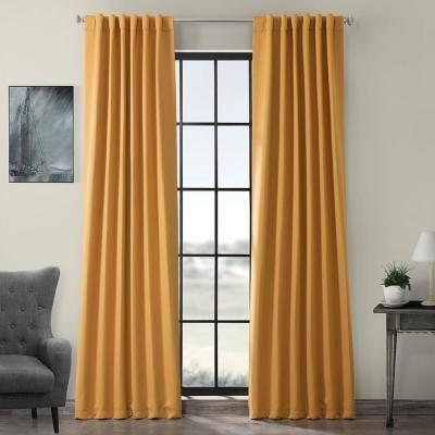 Exclusive Fabrics Furnishings Semi Opaque Marigold Blackout