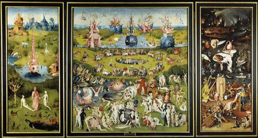 The Garden Of Earthly Delights Dated 1490 1510 By Hieronymus