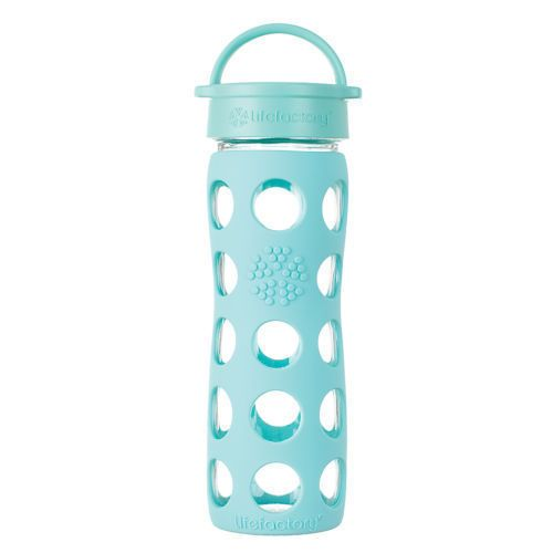 Lifefactory 16 Oz Hydration Yoga Classic Cap Glass Water Bottle