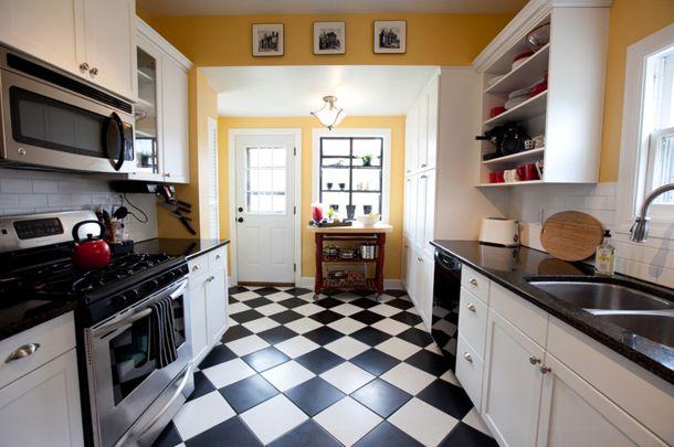white tile floor kitchen. Plain White Color Of The Day Honeymoon Kitchen TileKitchen RedoLinoleum  FloorsKitchen  Inside White Tile Floor
