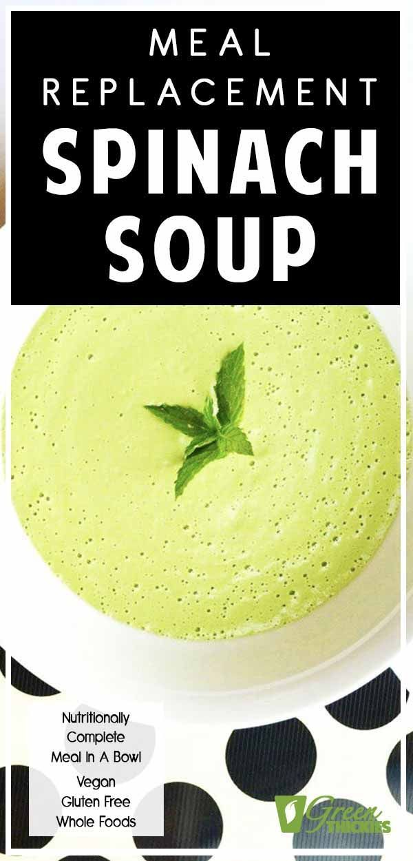 Raw Vegan Cream of Spinach Soup Recipe (Savoury Green Thickie) #spinachsoup