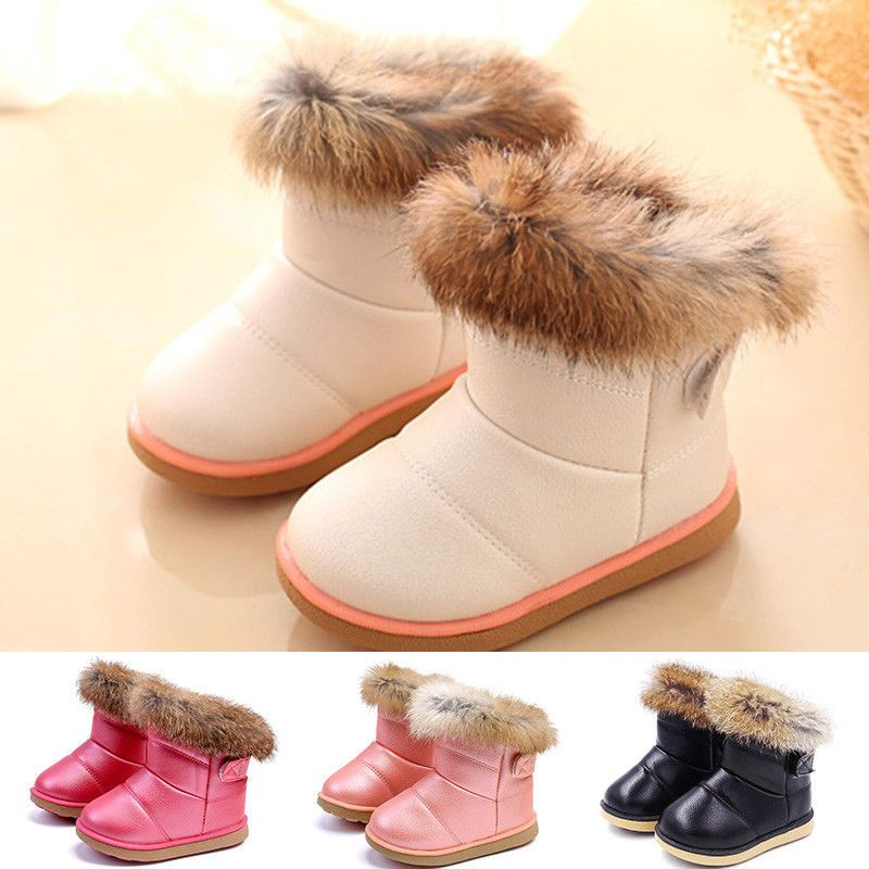Winter Children kid Warm Boots Baby Snow Shoes Toddler Boy Girls Ankle Booties