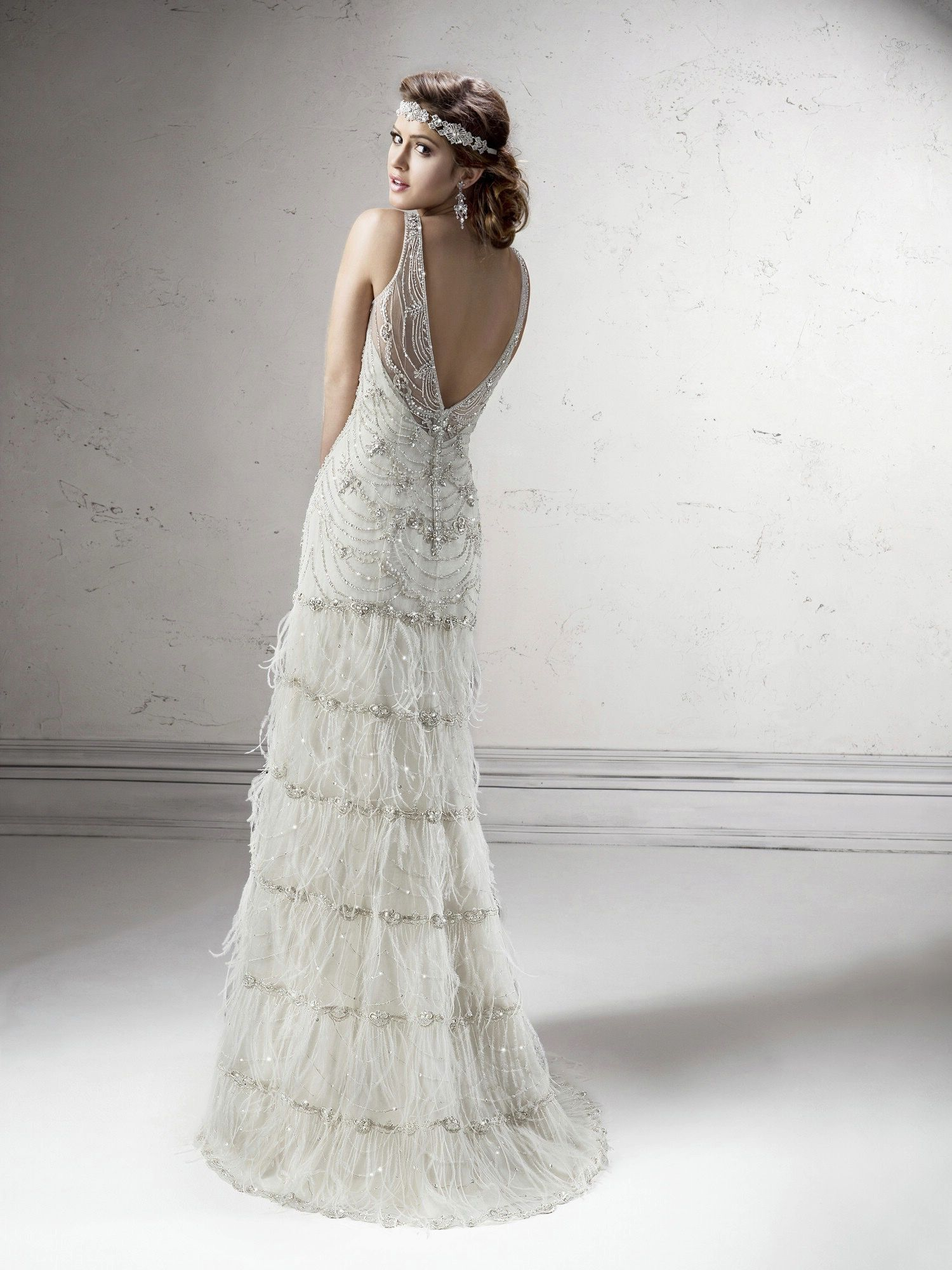 Gatsby wedding gown by Sottero + Midgley has some truly great 20s ...