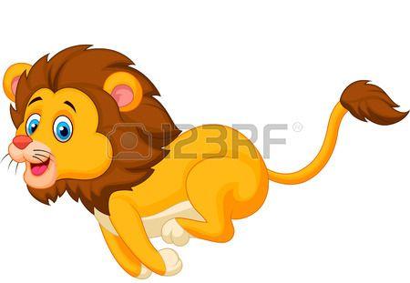 Cute Lion Cartoon Running Cute Lion Cartoon Running Illustration