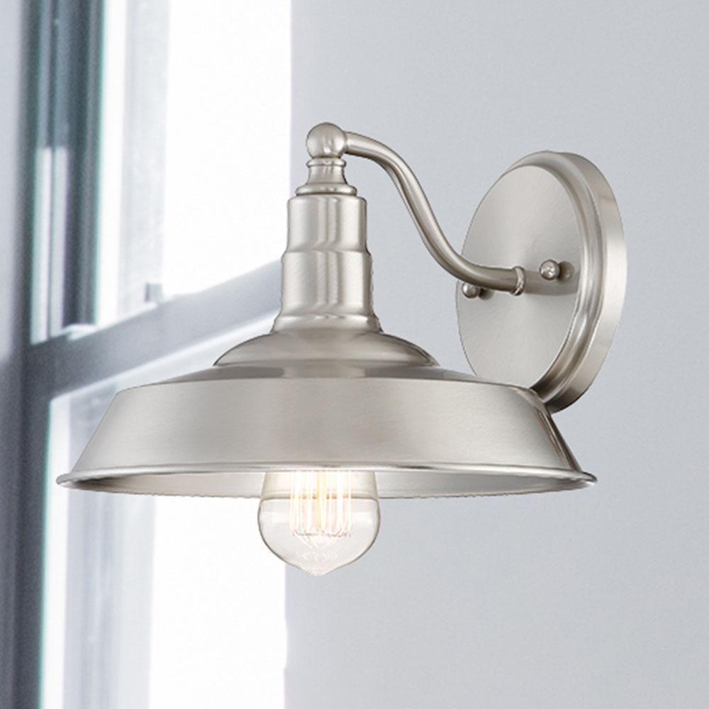 Cordelia Lighting 1 Light Brushed Nickel Wall Sconce 15014 35