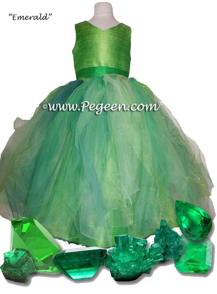 72ce2caf28 Key Lime and Shamrock Green flower girl dresses