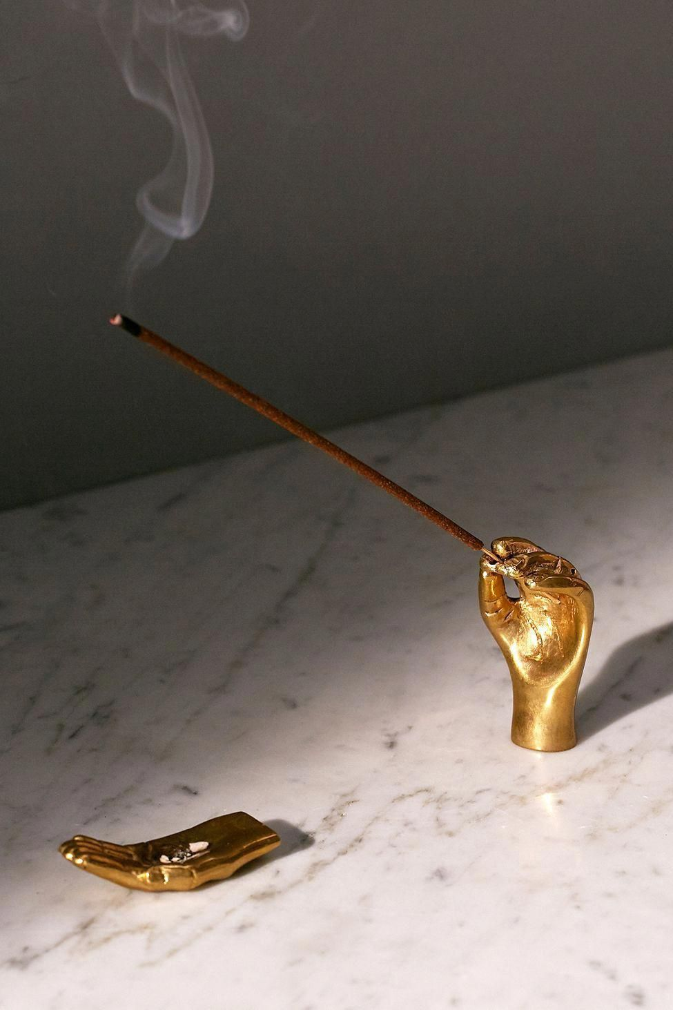 Urban Outfitters Hands Incense Holder Set Gold One Size