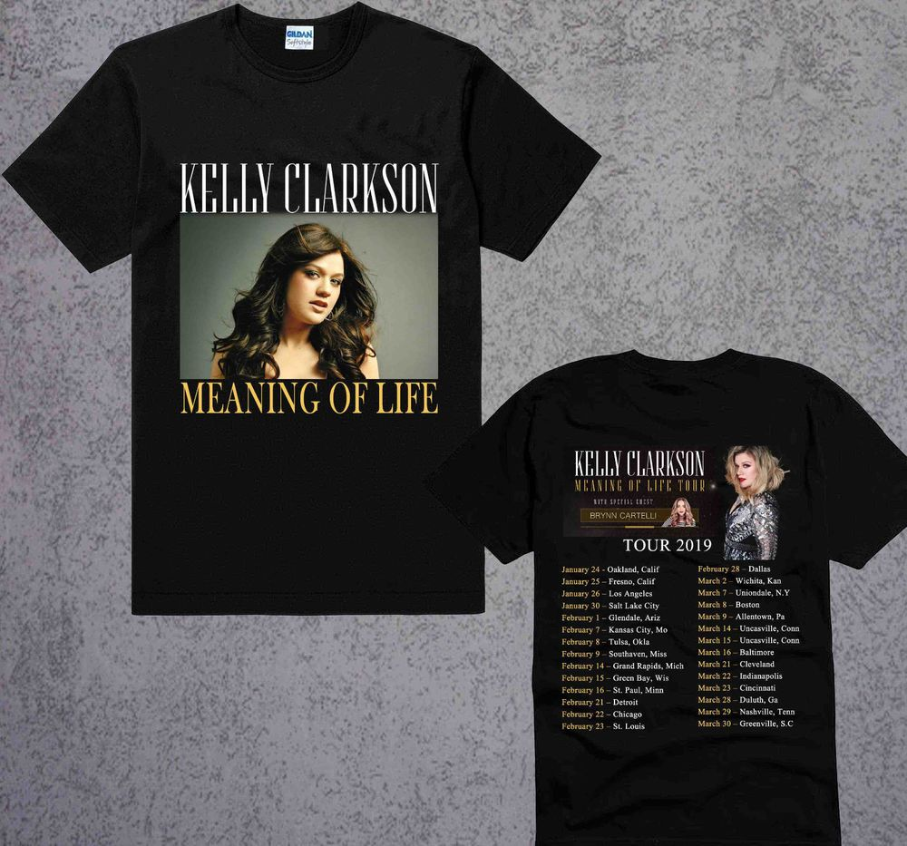 2b471c40 New KELLY CLARKSON MEANING OF LIFE TOUR 2019 Tshirt Black Hot Edition S to  3XL #fashion #clothing #shoes #accessories #mensclothing #shirts (ebay link)