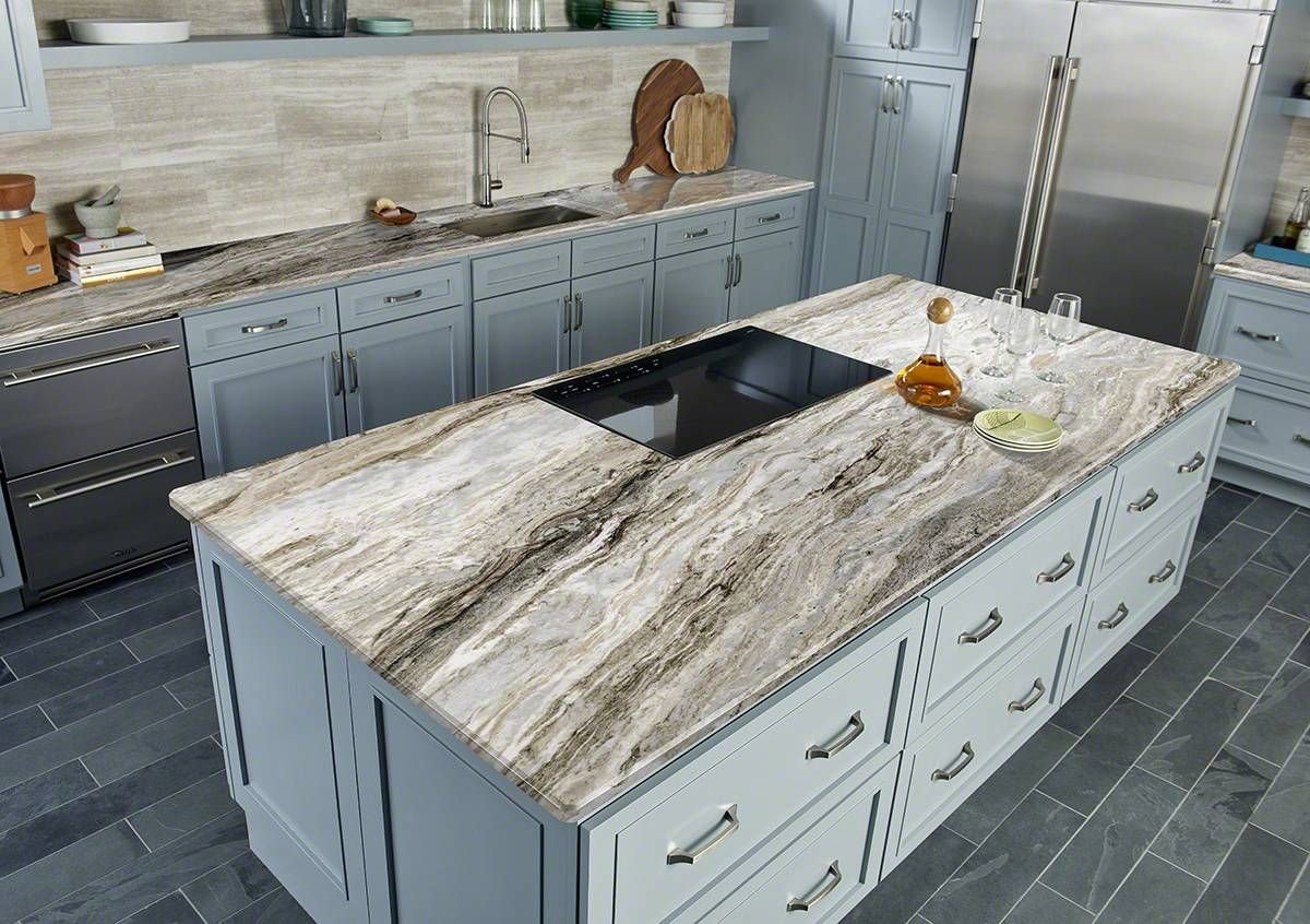 Fantasy Brown Marble Imported From India Features A Beautiful Flowing Pattern Of Apricot Prefab Countertops Kitchen Remodel Small Granite Countertops Kitchen