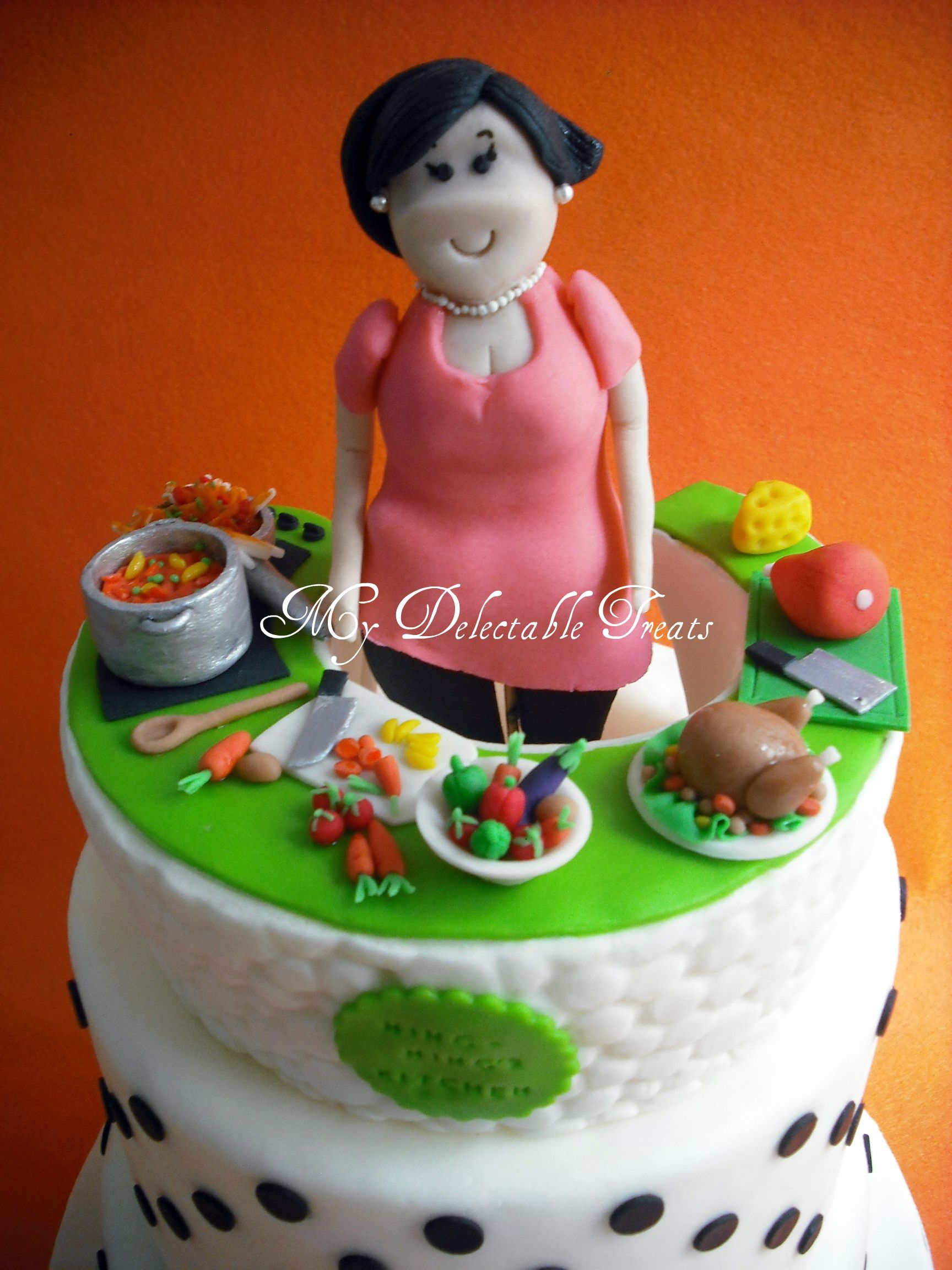Kitchen Themed Cake And Cupcakes Somebody Asked Me To Make This