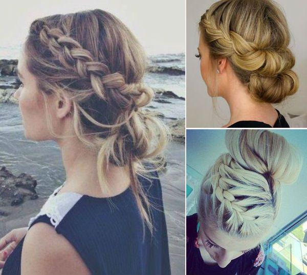 Astounding 1000 Images About Wedding Hair On Pinterest Low Bun Braid Short Hairstyles For Black Women Fulllsitofus