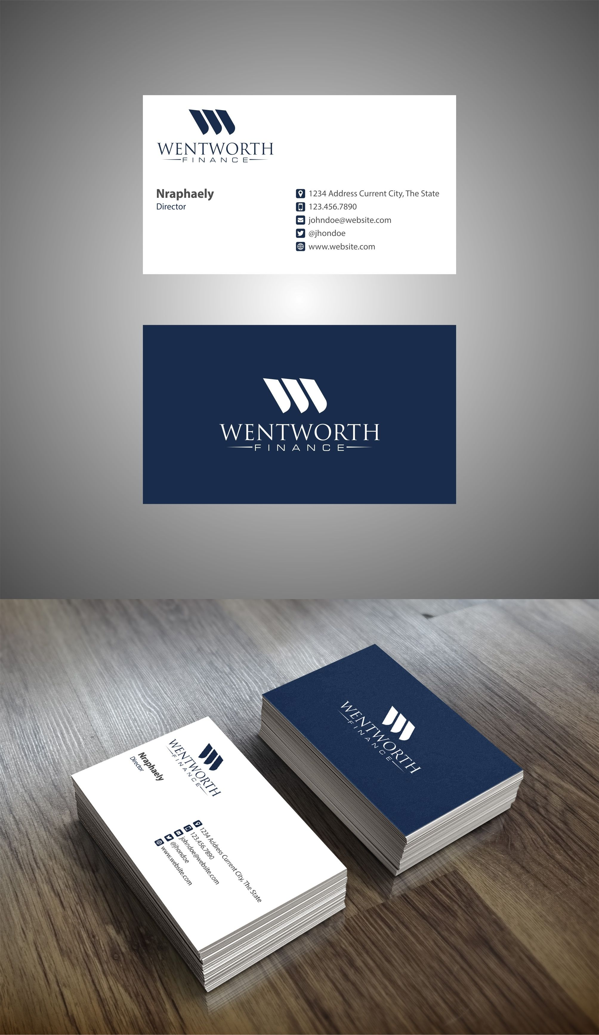 Design 207 By Afatoni Create A Logo And Brand Identity For Wentworth Finance Graphic Design Business Card Name Card Design Business Card Design