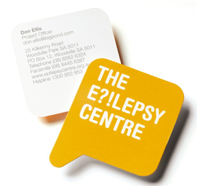 The Epilepsy Centre Brand identity by Parallax Design Clever business card design