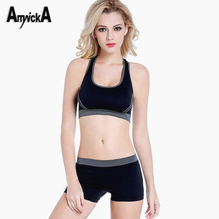 573dee05f88d9 AmynickA Sport Suit Women (Bra+Shorts 1 sets) Gym Fitness Jumpsuits Sports