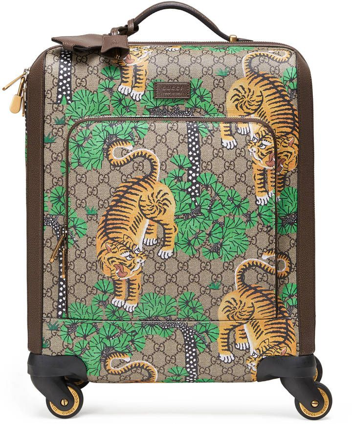 74840d4b10e7 Gucci Bengal GG Supreme carry-on Bengal Tiger Travel Carry On suitcase  designer luxury