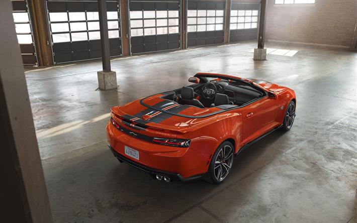 Download Wallpapers Chevrolet Copo Camaro 2018 4k Orange Camaro
