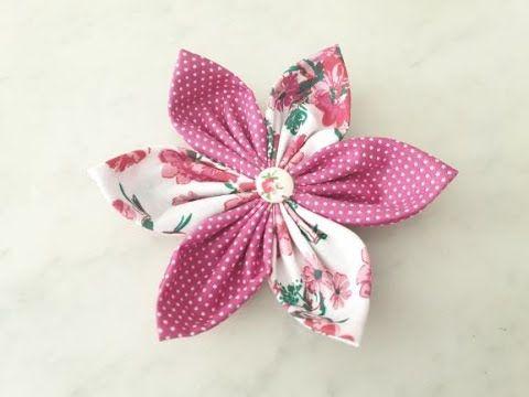 Stoffblume Nähen für Anfänger Leicht/Easy