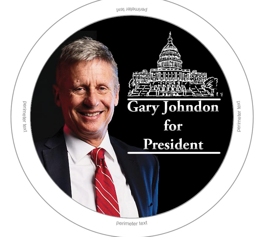 gary jonson for president adobe photoshop student work and simple