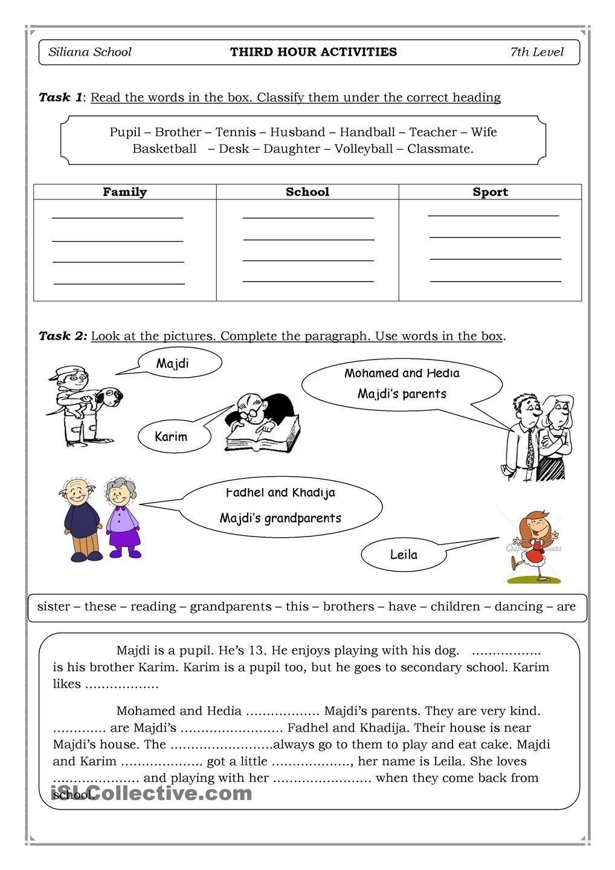- 6 1st Grade English Worksheets Family √ 1st Grade English