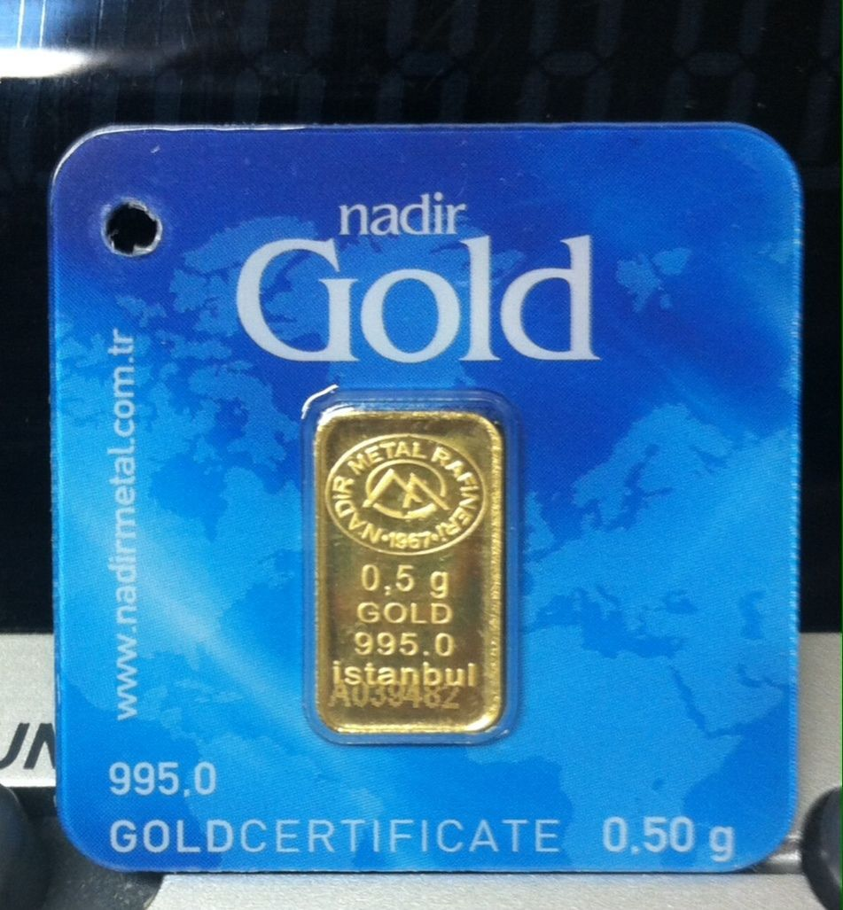 1 Each 1 2 50 Gram 995 24 Kt Nadir Gold Bar Sealed Assay Goldcertificate Card Gold Bar Branded Mints Gold