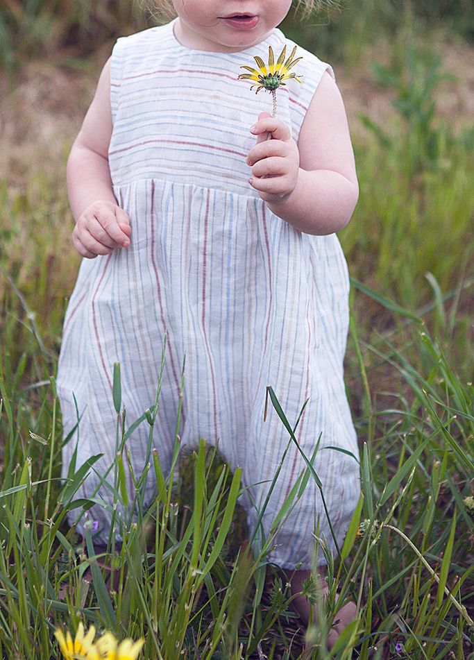 Striped Linen Harem Romper | FrecklyOllie on Etsy