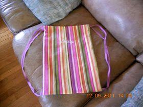 Drawstring Backpack Tutorial - single fabric