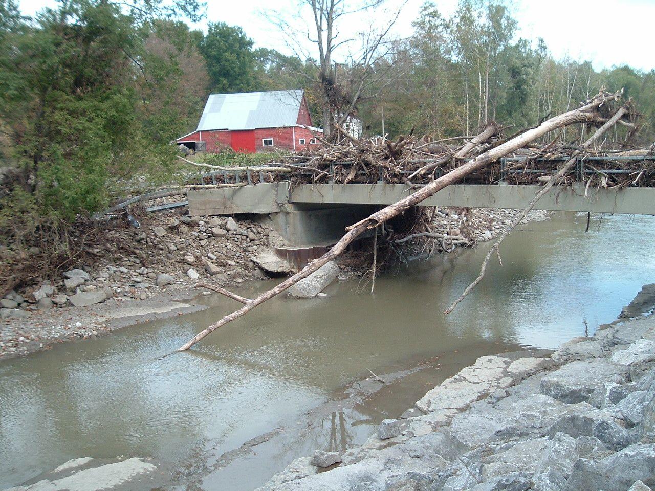 Schoonmaker Road Bridge Over Fox Creek Town Of Wright Schoharie County New York Damage Following Hurricane Irene Rep Road Bridge Schoharie County New York