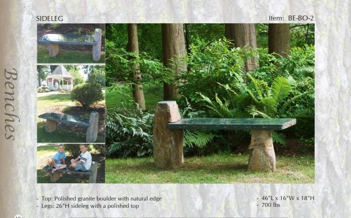 Charmant Granite Bench, Natural Stone Bench, Garden Bench