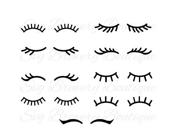 Lashes eyelashes svg png dxf eps pdf for cricut for Craft eyes with lashes